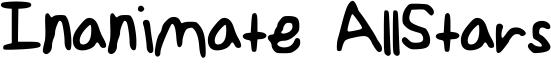 Inanimate AllStars Font