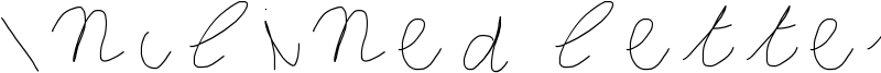Inclined letter Font