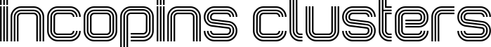 Incopins Clusters Font