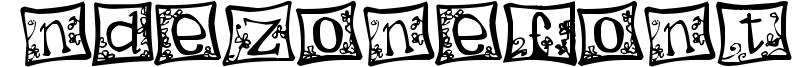 Indezonefont - creative Font