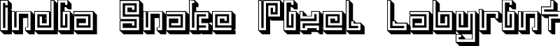 india snake pixel labyrinth game_3d.otf