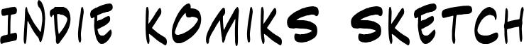 Indie Komiks Sketch Font