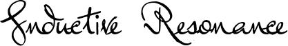 Inductive Resonance Font