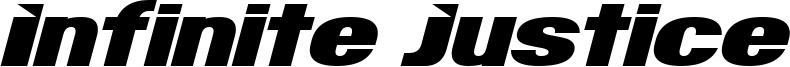 Infinite Justice Font