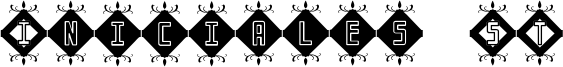 Iniciales ST Font