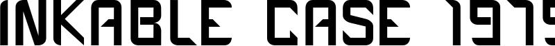 Inkable Case 1979 Font