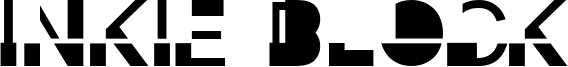 Inkie Block Font