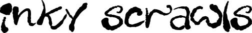 Inky Scrawls Font