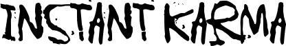 Instant Karma Font