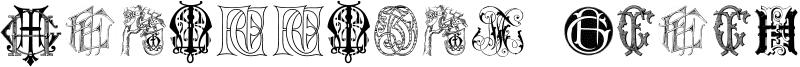 Intellecta Monograms Random Samples Seven Font