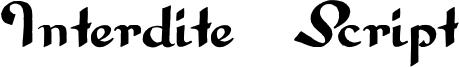 Interdite Script Font