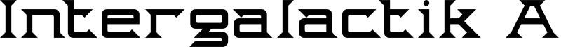 Intergalactik Airlines Font