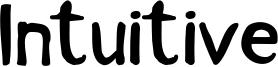Intuitive Font