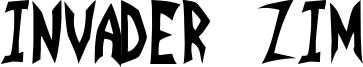 Invader Zim Font