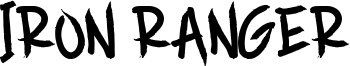 Iron Ranger Font