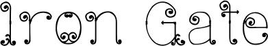 Iron Gate Font