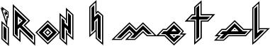 Iron H Metal Font