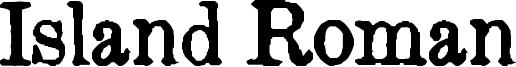 Island Roman Font