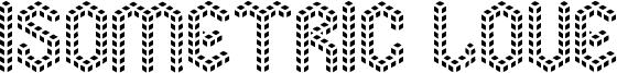Isometric Love Font