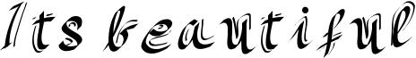 Its beautiful Font