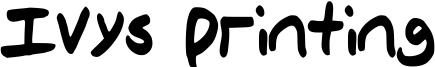 Ivys Printing Font