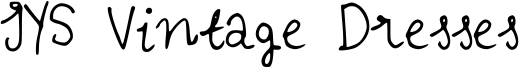 IYS Vintage Dresses Font