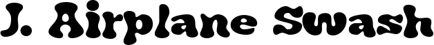 J. Airplane Swash Font