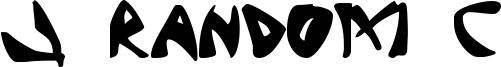 J Random C Font
