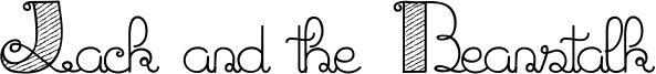 Jack and the Beanstalk Font