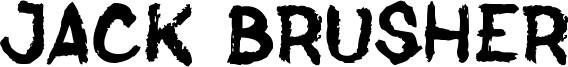 Jack Brusher Font