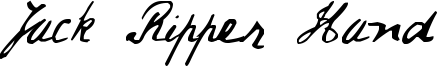 Jack Ripper Hand Font