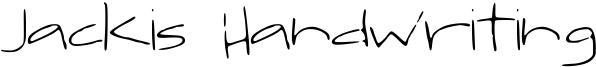 Jackis Handwriting Font