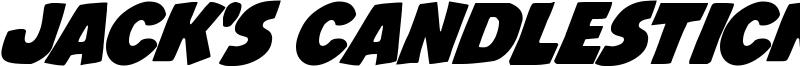 Jack's Candlestick Font