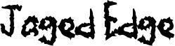 Jaged Edge Font