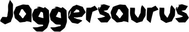 Jaggersaurus Font