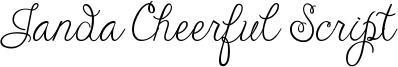 Janda Cheerful Script Font