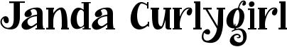 Janda Curlygirl Font