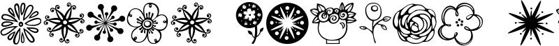 Janda Flower Doodles Font