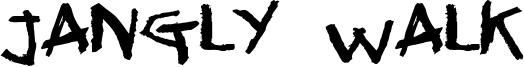 Jangly Walk Font