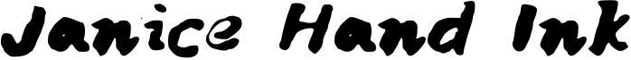 Janice Hand Ink Font