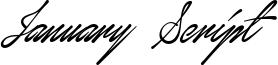 January Script Font