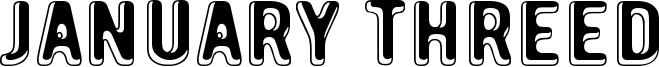 January Threed Font