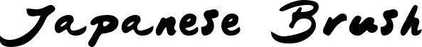 Japanese Brush Font