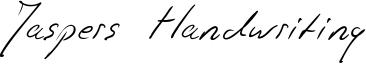 Jaspers Handwriting Font