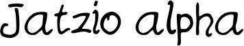 Jatzio alpha Font