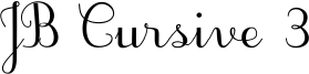 JB Cursive 3 Font