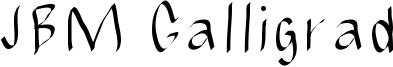 JBM Calligrad Font