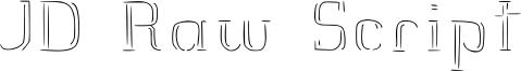 JD Raw Script Font