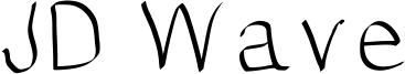 JD Wave Font