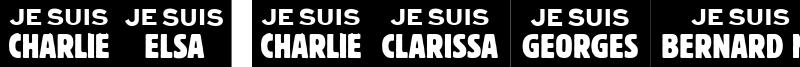 Je Suis Charlie Font